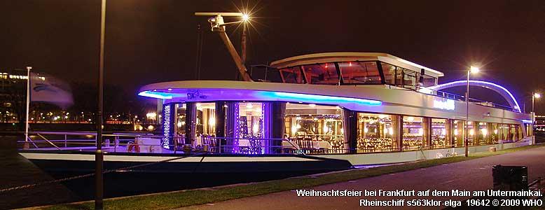 Weihnachtsfeier 2019 Ideen.Weihnachtsfeier Frankfurt Main 2019 2020 Schiff Schiffahrt Dezember